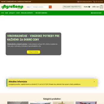 Agrokomp.sk thumbnail