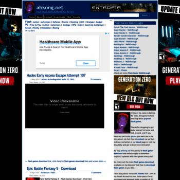 Ahkong Net At Wi Ahkong Net Flash Games Download By