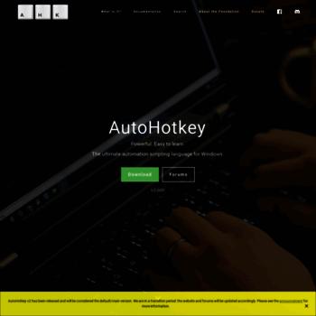 ahkscript org at WI  AutoHotkey