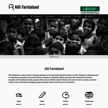 Aidfaridabad.org thumbnail