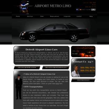 Metro Cars Detroit >> Airportmetrolimo Com At Wi Detroit Metro Airport Limo Cars