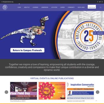 aischennai org at WI  American International School – Best