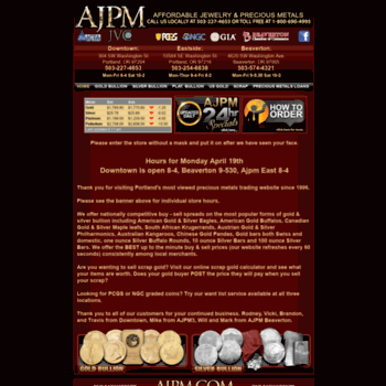 ajpm com at WI  AJPM - Main Page (Buy & Sell Gold & Silver