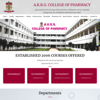 Akrgpharmacy.ac.in thumbnail