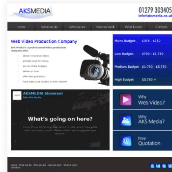aksmedia co uk at WI  Home - AKS Media - Hertfordshire