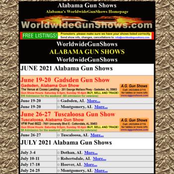 Alabamagunshows.net thumbnail