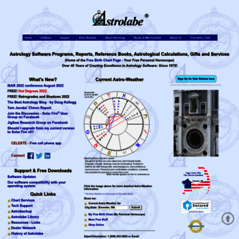 alabe com at WI  ASTROLABE: Astrology Software, Reports, Books and