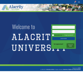 alacrity interactyx com at WI  Alacrity University