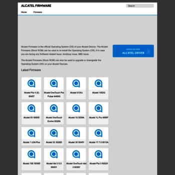 alcatelfirmware com at WI  Alcatel Firmware - Original
