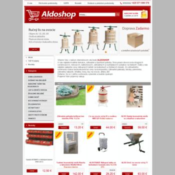 Aldoshop.sk thumbnail