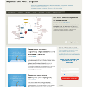 Веб сайт alenashefina.com