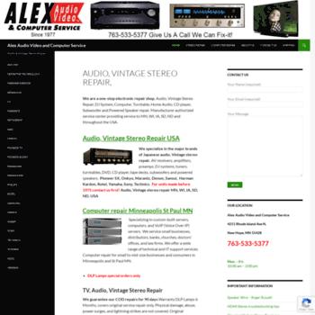 alexav com at WI  TV, Audio, Vintage Stereo Repair, DLP