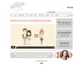 Alignalbumdesign.com thumbnail