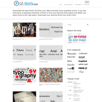 all-fonts com at WI  The best free fonts!