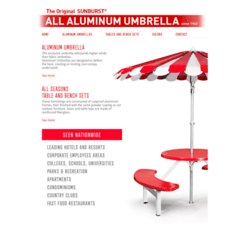 Wi All Aluminum Umbrellas