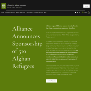 Alliance-for-africa.org thumbnail