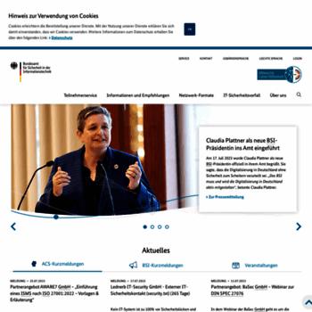 Allianz-fuer-cybersicherheit.de thumbnail
