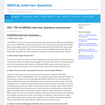 allmedicalquestionsanswers com at WI  MEDICAL Interview
