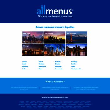 Allmenus.com thumbnail