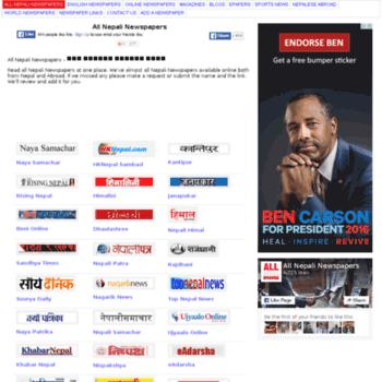 allnepalinewspapers com at WI  all Nepali Newspapers - Nepal News