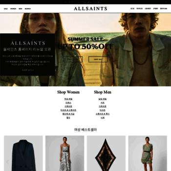 Allsaints.co.kr thumbnail