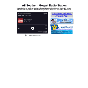 allsoutherngospel net at WI  All Southern Gospel Music Internet