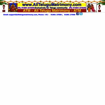 Alltelugumatrimony.com thumbnail