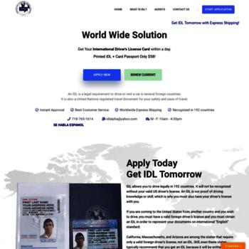 alpha-idl com at WI  International Driver License (IDL), Non