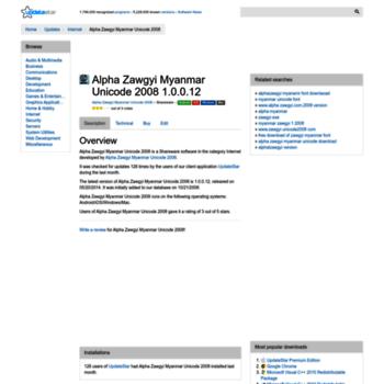 alpha-zawgyi-myanmar-unicode-2008 updatestar com at WI