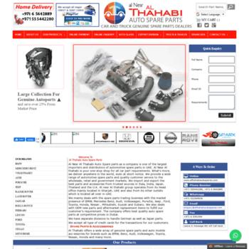 althahabiautospares com at WI  Al Nesr Al Thahabi Auto Spare