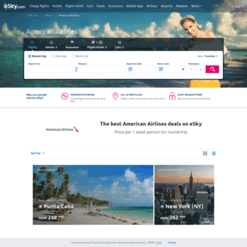 Americanairlines.esky.com thumbnail