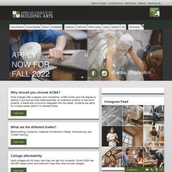 Americancollegeofthebuildingarts.com thumbnail