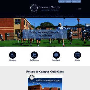 Americanmartyrsschool.org thumbnail