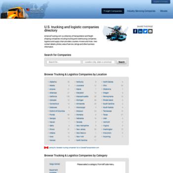 americatrucking com at WI  U S  Trucking & Logistics