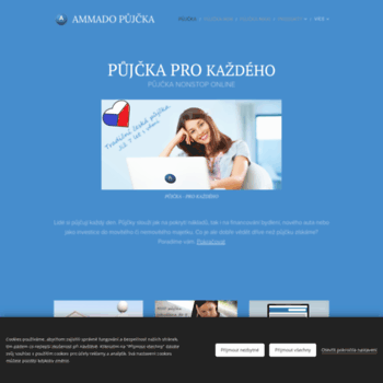 Веб сайт ammadopujcky.cz