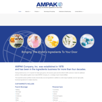 ampakcompany com at WI  Welcome to Ampak Company, Inc  --- Universal