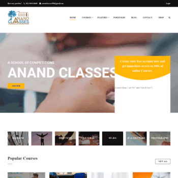 Anandclasses.co.in thumbnail