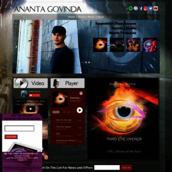 anantagovinda com at WI  Devotional Music for Yoga Meditation Free