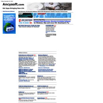 ancysoft com at WI  Ancysoft Software  Data Recovery, Data