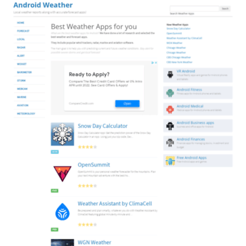 androidweather net at WI  Android Weather Apps - Handpicked best