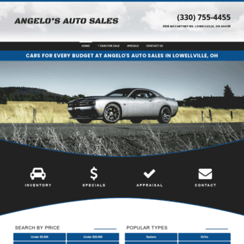 Angelos Auto Sales >> Angeloscars Com At Wi Angelo S Auto Sales Used Cars Lowellville