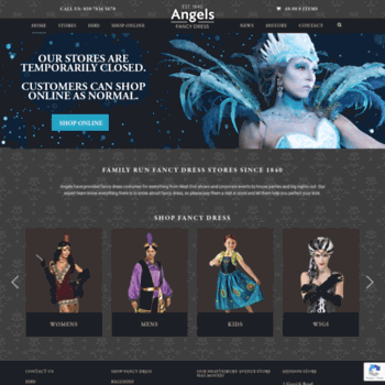 c2f703dd5fa angelsfancydress.com at WI. Angels Fancy Dress - Family run fancy ...