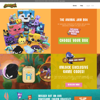 animaljambox com at WI  Animal Jam Box