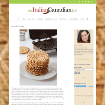 Anitaliancanadianlife.ca thumbnail
