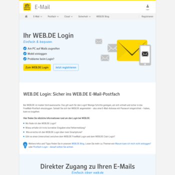 www.web.de einloggen postfach