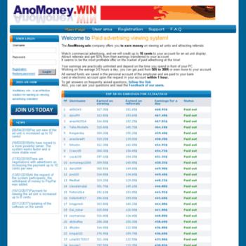 Anomoney.win thumbnail