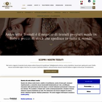 338f02c42c28 antoniettatessuti.com at WI. Vendita stoffe e tessuti - Torino ...