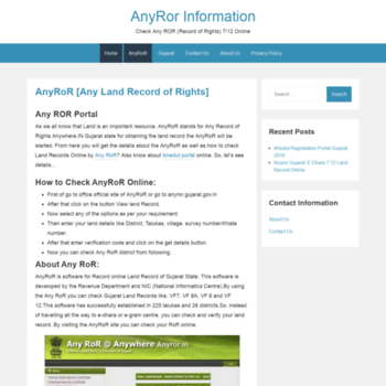 anyror in at WI  AnyRoR: E-Dhara Any ROR Download Gujarat Nakal Online