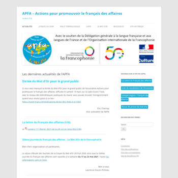 apfa asso fr at WI  APFA - Le Mot d'Or