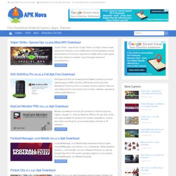 apknova com at WI  APK Nova | Download Android Games, Apps